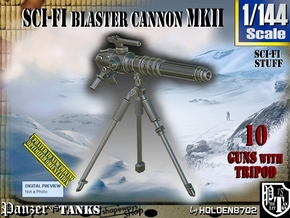 1/144 Sci-Fi Blaster Cannon MkII Set001 in Smooth Fine Detail Plastic