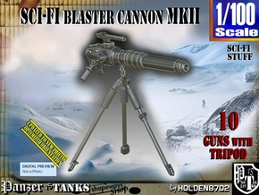 1/100 Sci-Fi Blaster Cannon MkII Set001 in Smooth Fine Detail Plastic