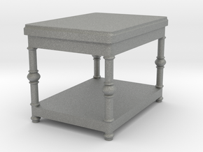 Fancy End Table Tabletop Prop in Gray Professional Plastic