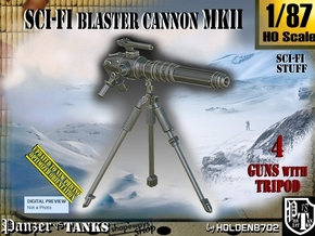 1/87 Sci-Fi Blaster Cannon MkII Set001 in Smooth Fine Detail Plastic