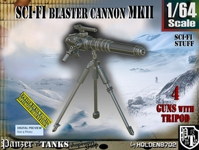 1/64 Sci-Fi Blaster Cannon MkII Set001 in Smooth Fine Detail Plastic