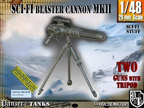 1/48 Sci-Fi Blaster Cannon MkII Set001 in Smooth Fine Detail Plastic