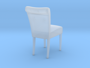 Miniature Cambridge Soft Chair in Smooth Fine Detail Plastic: 1:12