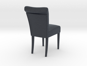 Miniature Cambridge Soft Chair in Black PA12: 1:12