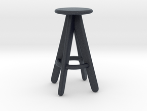 Miniature Tom Dixon Slab Barstool - Tom Dixon in Black PA12: 1:12
