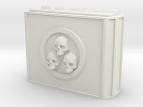 MK1 Weapon pod Main housing (triple skull) in White Natural Versatile Plastic