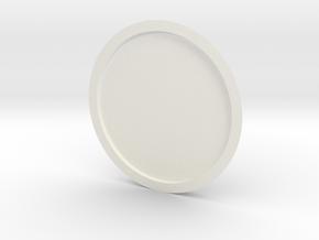 Lancia Delta 1 Door panel plate in White Processed Versatile Plastic