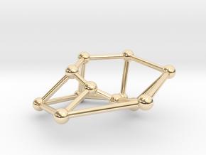 Möbius ladder M_12 in 14k Gold Plated Brass