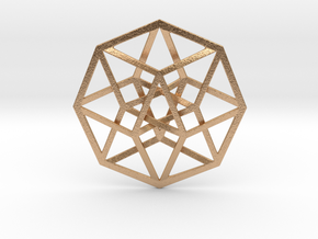 "4D Hypercube (Tesseract) 2.5"" in Natural Bronze"