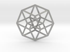 """4D Hypercube (Tesseract) 2.5"""" in Aluminum"""