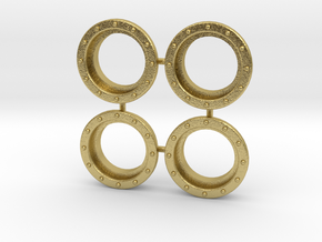 "4 Portholes (1"" or 26mm outside diameter) in Natural Brass"