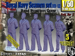 1/50 RN Seamen Rest Set101-12 in Smooth Fine Detail Plastic