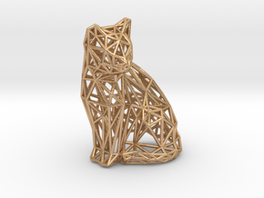 Sitting cat in Natural Bronze
