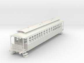 o-87-wcpr-bogie-coach in White Natural Versatile Plastic