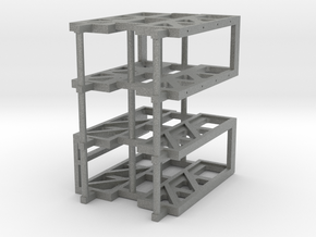 6 foot 6 inches 3W Flatcar Bulkhead General Steel  in Gray Professional Plastic
