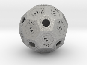 BitCoinReal-Cryptocurrency Polyhedron in Aluminum