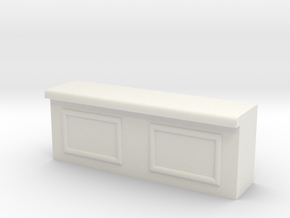 Modular Bar Counter - Center in White Natural Versatile Plastic