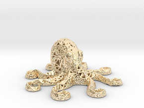 Octopus in 14k Gold Plated Brass