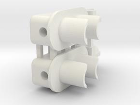 2 Aspect Signal Lower Head (2) in White Natural Versatile Plastic