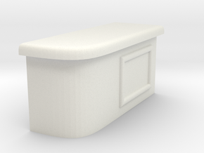 Modular Bar Counter - Right in White Natural Versatile Plastic