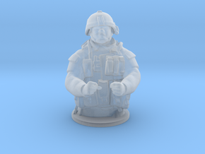 Tank Gunner HO Scale in Smooth Fine Detail Plastic
