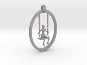 Swing pendant in Natural Full Color Sandstone: Small