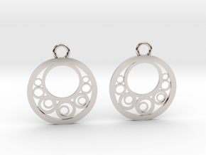 Geometrical earrings no.6 in Rhodium Plated Brass: Small
