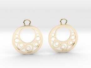Geometrical earrings no.6 in 14K Yellow Gold: Small