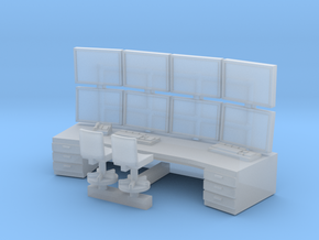 N Scale Control Center Workstation in Smooth Fine Detail Plastic
