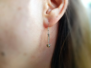 The Espresso Earrings  in Polished Silver