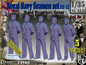 1/35 RN Seamen Rest Set101-12 in Smooth Fine Detail Plastic