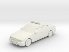 Police Car  in White Natural Versatile Plastic