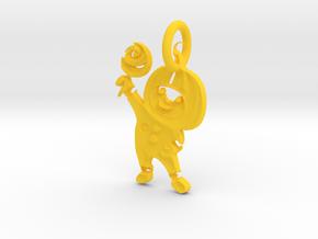 Halloween Pumpkin Boy  in Yellow Processed Versatile Plastic: Large