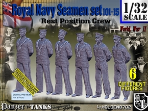 1/32 RN Seamen Rest Set101-15 in Smooth Fine Detail Plastic