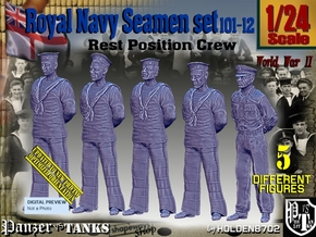 1/24 RN Seamen Rest Set101-12 in White Natural Versatile Plastic