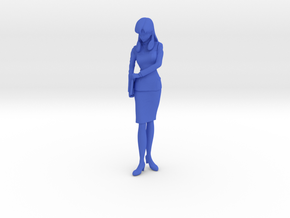 1/12 Lady Officer in Uniform in Blue Processed Versatile Plastic