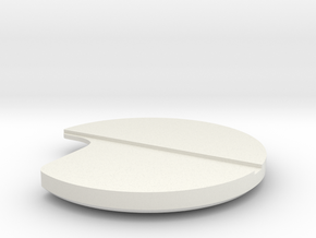 DISC1-02-WH-FWD STR-RH-CS in White Natural Versatile Plastic