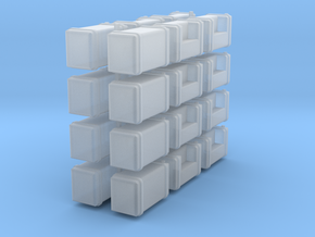 Gas Tanks in Smooth Fine Detail Plastic