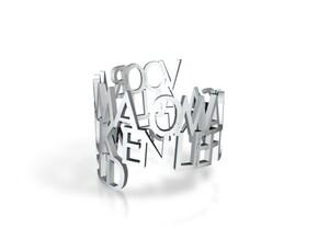 Ring Poem Olga in White Natural Versatile Plastic