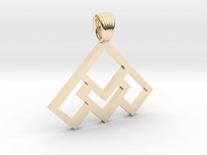 Art déco squares [pendant] in 14K Yellow Gold