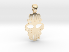 Art Deco double flower [pendant] in 14K Yellow Gold
