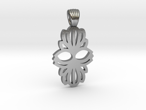 Art Deco double flower [pendant] in Polished Silver