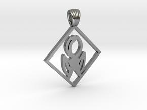 Art Deco Squared tulip [pendant] in Polished Silver