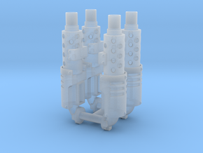 Exhaust stack x4 #1 in Smooth Fine Detail Plastic