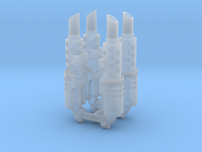 Exhaust stack x4 #2 in Smooth Fine Detail Plastic