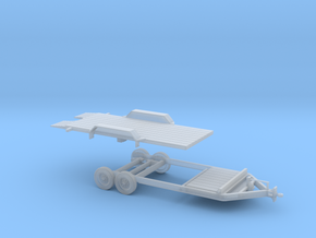 Tilt Utility Trailer 1-50 Scale in Smooth Fine Detail Plastic