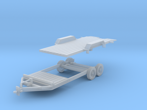 Tilt Utility Trailer 1-64 Scale in Smooth Fine Detail Plastic