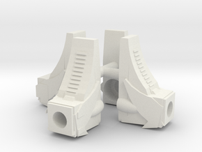 Time Boots 4 Pack in White Natural Versatile Plastic