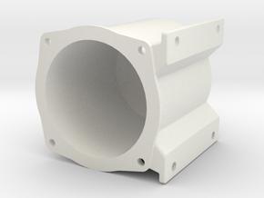 "3/4"" Locomotive Brake Cylinder Body in White Natural Versatile Plastic"