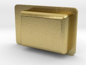 """3/4"""" EMD Door Handle A in Natural Brass"""